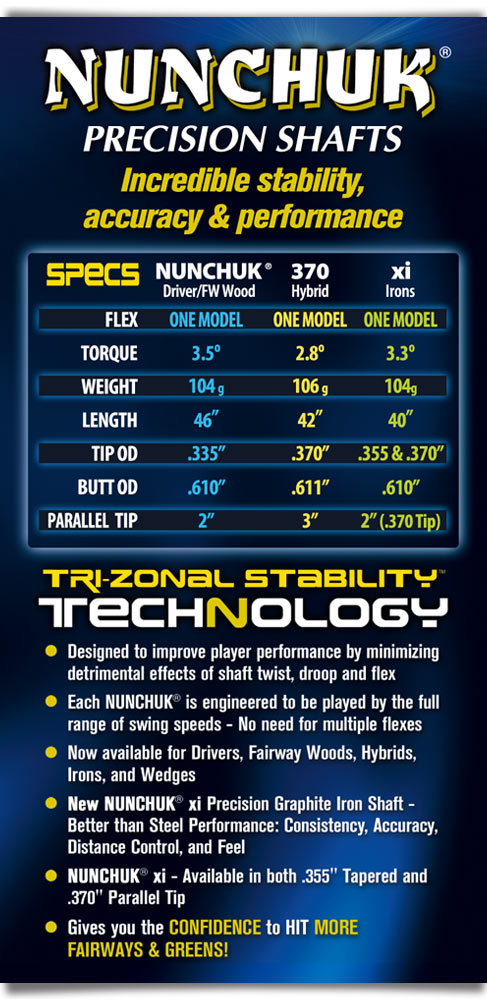 Nunchuk Golf Shafts Technical Specifications